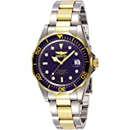 Invicta Men's Pro Diver 37.5mm Stainless Steel and Gold Tone Watch