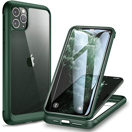 Diaclara Compatible with iPhone 11 Pro Max Case with Built-in Tempered Glass Screen Protector [9H Hardness] [Heavy Duty Drop Protection] Full Body Cover Rugged Clear Bumper Case for iPhone 11 promax
