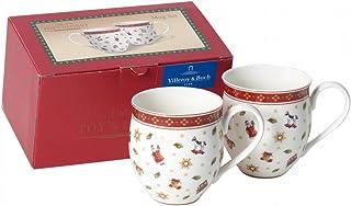 Villeroy & Boch Delight 2-Pieces Mug Set, Toys, Porcelain, White/Red