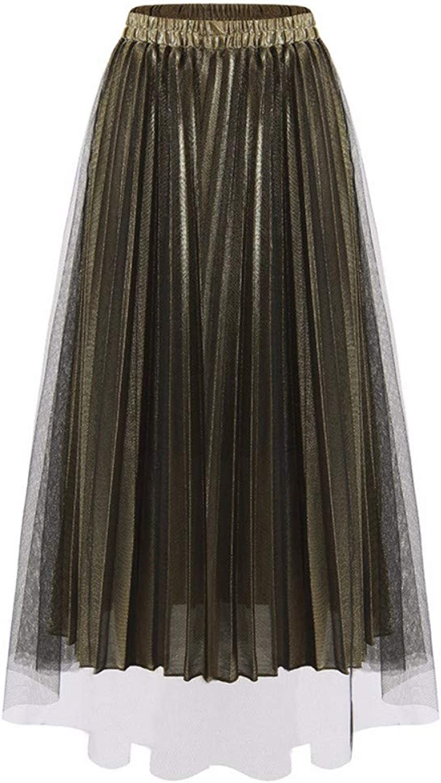 ZPSPZ skirt Mesh Pleated Skirt HalfLength Skirt high Waist AShaped Yarn Skirt Pendulum Skirt