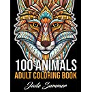 100 Animals: An Adult Coloring Book with Lions, Elephants, Owls, Horses, Dogs, Cats, and Many More! (Animals with Patterns Coloring Books)