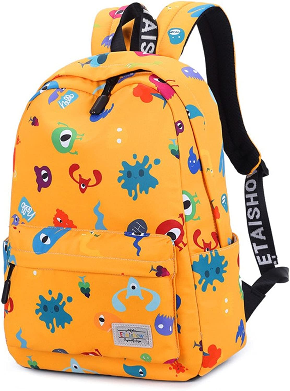 Schoolbag Canvas Waterproof Knapsack,Big orange,42X29X13Cm