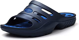 Men's Slide Sandals Athletic Slippers with Arch Support for Shower Pool Beach Sports Gym Spa Trip Outdoor House