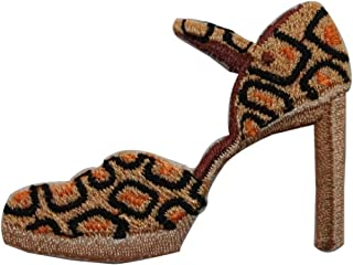 ID 7450 Giraffe Pattern High Heel Patch Shoe Pump Embroidered Iron On Applique