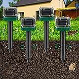 Sylanda - Ahuyentador solar de topos (4 unidades, con motor de vibración, impermeabilidad IP65, antitopos, roedores, antiplagas, para el jardín)