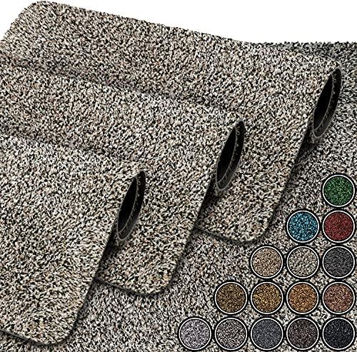 GadHome Felpudo Absorbente, Granite 40 cm x 60 cm   Alfombrilla Antideslizante para Interior y Exterior   Alfombra de Puerta de Algodón Suave, Lavable y de Secado Rápido
