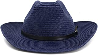 Bin Zhang Beach West Cowboy Straw Hat Men Women Couple Hat Outdoor Belt Beach Hat Sun Protection Sun Hat