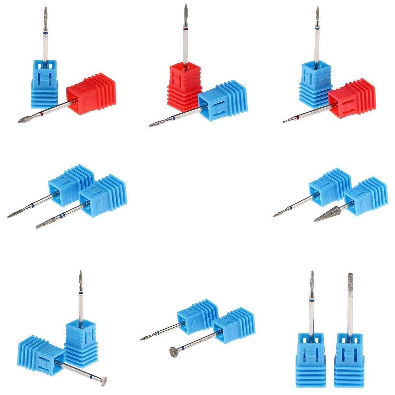 基準いたずら劇的T TOOYFUL 電気ネイルドリルビット ネイルバレルヘッド 耐熱性 耐酸性 16個