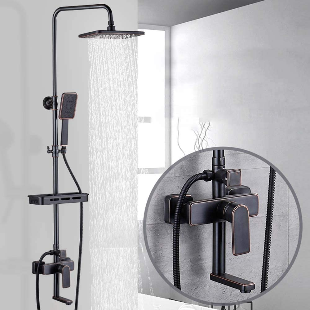 GUOCAO Shower System Now on sale Household Purchase Copper Hot Cold Boost and B Retro