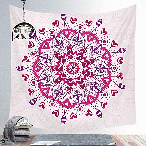 N / A Indian Mandala Tapestry Wall Hanging Carpet Throw Yoga Mat Sandy Beach Throw Rug Blanket Mattress Sleeping Mat A7 130x150cm