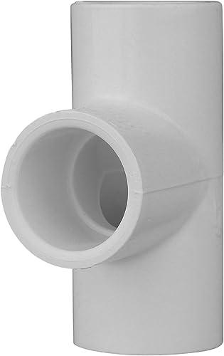 "Charlotte Pipe 1/2"" Tee Elbow Pipe Fitting - (Socket x Socket x Socket) Contractor Pack Schedule 40 PVC Pressure Dura..."