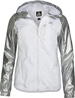Reebok Women's Lightweight Windproof Water-Resistant Hooded Windbreaker Jacket