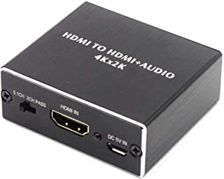 4K x 2K HDMI to HDMI Convertor and Extractor Optical TOSLINK SPDIF + 3.5mm Stereo Audio Extractor HDMI Audio Splitter Adapter
