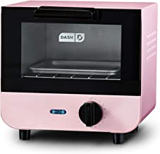 Dash DMTO100GBPK04 Mini Toaster Oven Cooker for Bread, Bagels, Cookies, Pizza, Paninis & More with Baking Tray, Rack, Auto Shut Off Feature, Pink