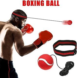 Home Gym Boxen equipmentfor MMA Training Boxen Reflex Ball auf String Schwierigkeitsgrad 2/Speed B/älle Stanz Bewegung Speed Reaktionen Fight Ball Trainer mit Silikon Kopfband