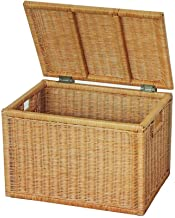 Laundry Basket Medium Brown Wicker Basket,Storage Chest Trunk Hamper (Color : Yellow, Size : Large)
