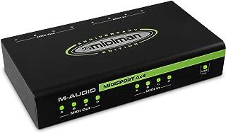 M-Audio Midisport 4x4 - Interfaz MIDI USB plug & play (4 entradas y 4 salidas, Edición Aniversaria para Mac y PC)