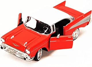 1957 Chevy Bel Air, Red - Showcasts 73228 - 1/24 Scale Diecast Model Toy Car, but NO Box
