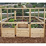 Square Raised Garden with Deer Fence Kit 6