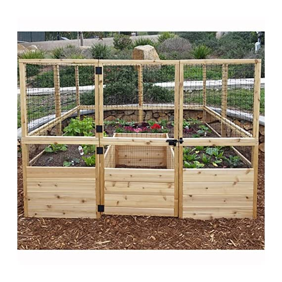 Square Raised Garden with Deer Fence Kit 3
