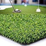 Golf Putting Green/Mat-Golf Training Mat Sprot Baseball Football Artificial Grass- Green Long Challenging Putter for Indoor/Outdoor