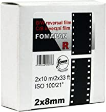 Foma Fomapan R100 Black & White Reversal Film, 2x8mm, Double 8 Standard 10 meters