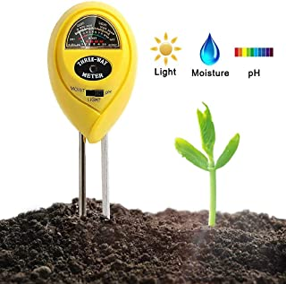XRS Soil pH Meter Kit 3-in-1 Moisture Meter Soil Test Kit pH Soil Tester Water Meter for Indoor Plants Outdoor Soil Moisture Meter No Battery Needed