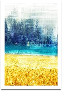 Abstract Forest Wheat field Art Poster Nordic Landscape Canvas Canvas Wall Painting Modern Style Decorative Picture Home Decor
