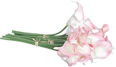 Royal Imports Calla Lily Flowers Artificial Fake Silk 18 Single Stems for Bouquets, Weddings, Valentines, Wreaths, Crafts, Faux Lilies, Pink