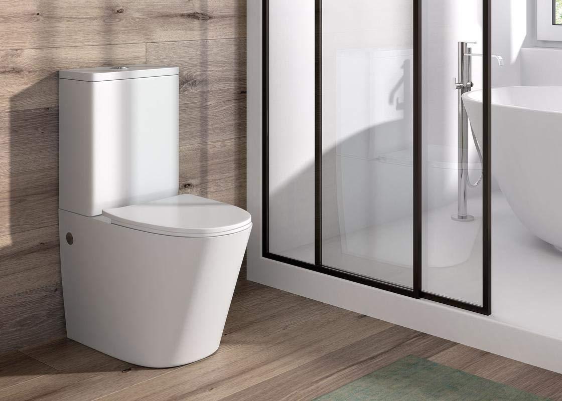Pack WC de Inodoro Round compacto adosado a la pared con salida ...