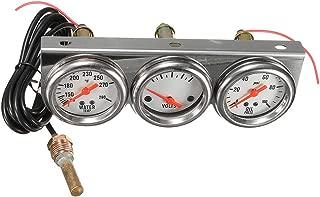 Flameer Oil Pressure Water Volt Triple 3 Gauge Set Kit Panel Hot Rod