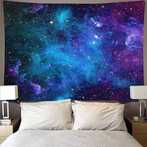 LLXJLUCKY Mystery Universe Starry Sky Space Trippy Tapiz Colgante de Pared Grandes tapices de Estrellas psicodélicas para Alfombra de Tela de Pared de Dormitorio