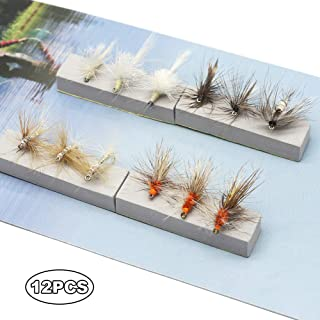 YZD Fly Fishing Trout Flies Kits 12pcs Fly Fishing Lures Dry Wet Flies Streamer Nymph Emerger Flies Trout Fly Selections