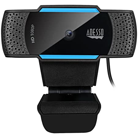 Adesso CyberTrack H5 1080p HD USB Auto Focus Webcam with Built-in Dual Microphone
