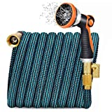 JOOIKOS Expandable Garden Hose 100ft - Water Hose with 10 Functions Nozzle and Connectors,Extra Strength Fabric,Lightweight Garden Hose