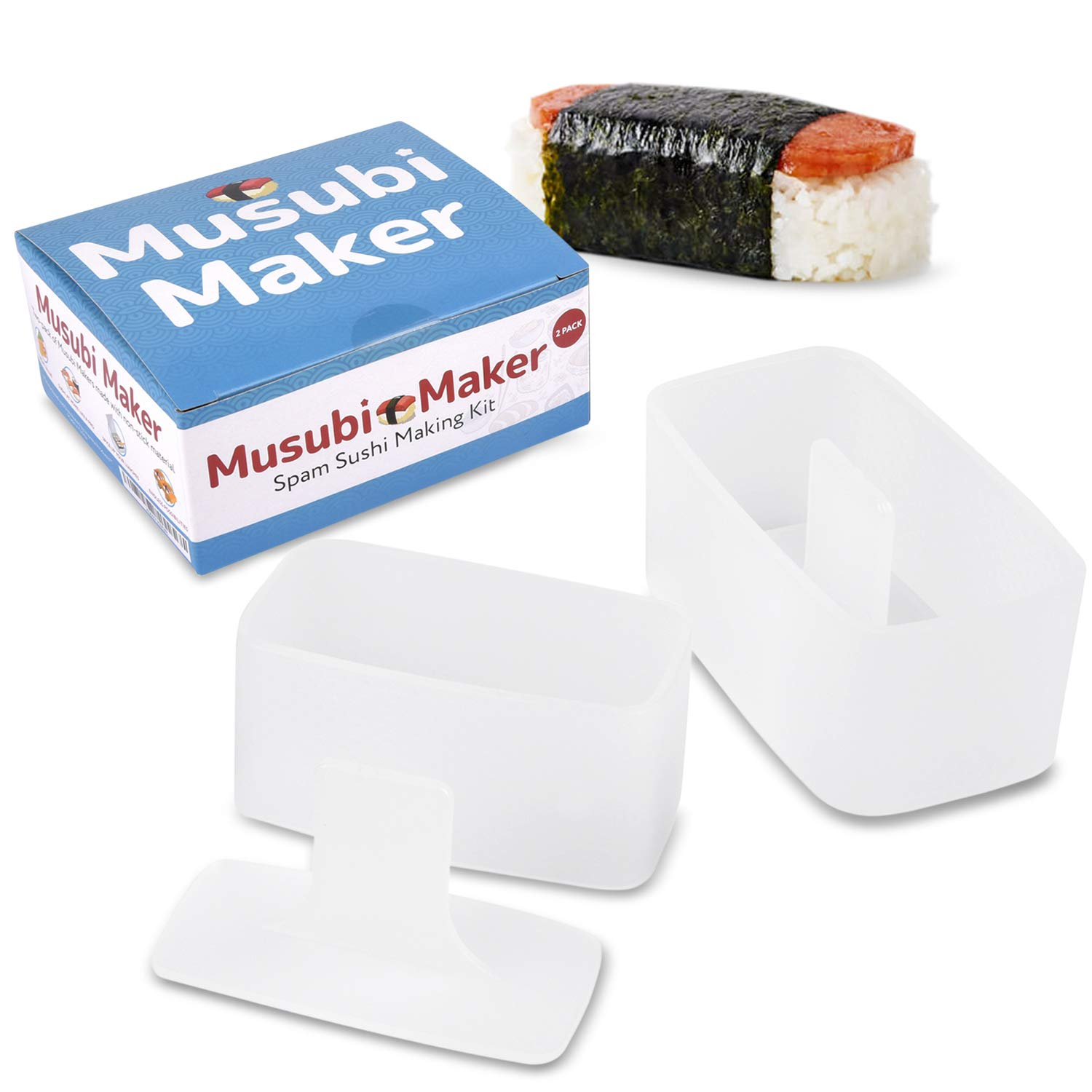 2 Pack Musubi Maker Press Bpa Free Non Stick Non Toxic Sushi Making Kit Spam Musubi Mold Make Your Own Professional Sushi At Home Hawaiian Spam Musubi Kimbab Onigiri