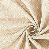 Fabulous Fabrics Halbpanama Natur, Uni, 140cm breit –