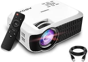 $49 » Projector, BOMAKER Portable LCD Video Projector, 60 ANSI Lumen,Support 1080p, USB SD Card VGA AV Phone Laptops for Home Cinema TV