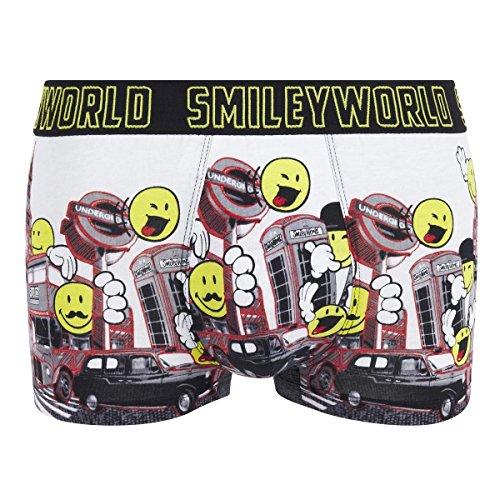 Smiley World Big Ben lustige Boxershort Unterhose als Geschenk für Herren Geburtstag und Weihnachten aus Baumwolle M