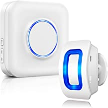 Motion Sensor Detector Chime BITIWEND Wireless Motion Detector 500ft Range with 52 Chime Tunes 4 Sound Level LED Indicator 1 PIR Sensor and 1 Plug-in Receiver for Store Entry Alert Home Driveway Alarm