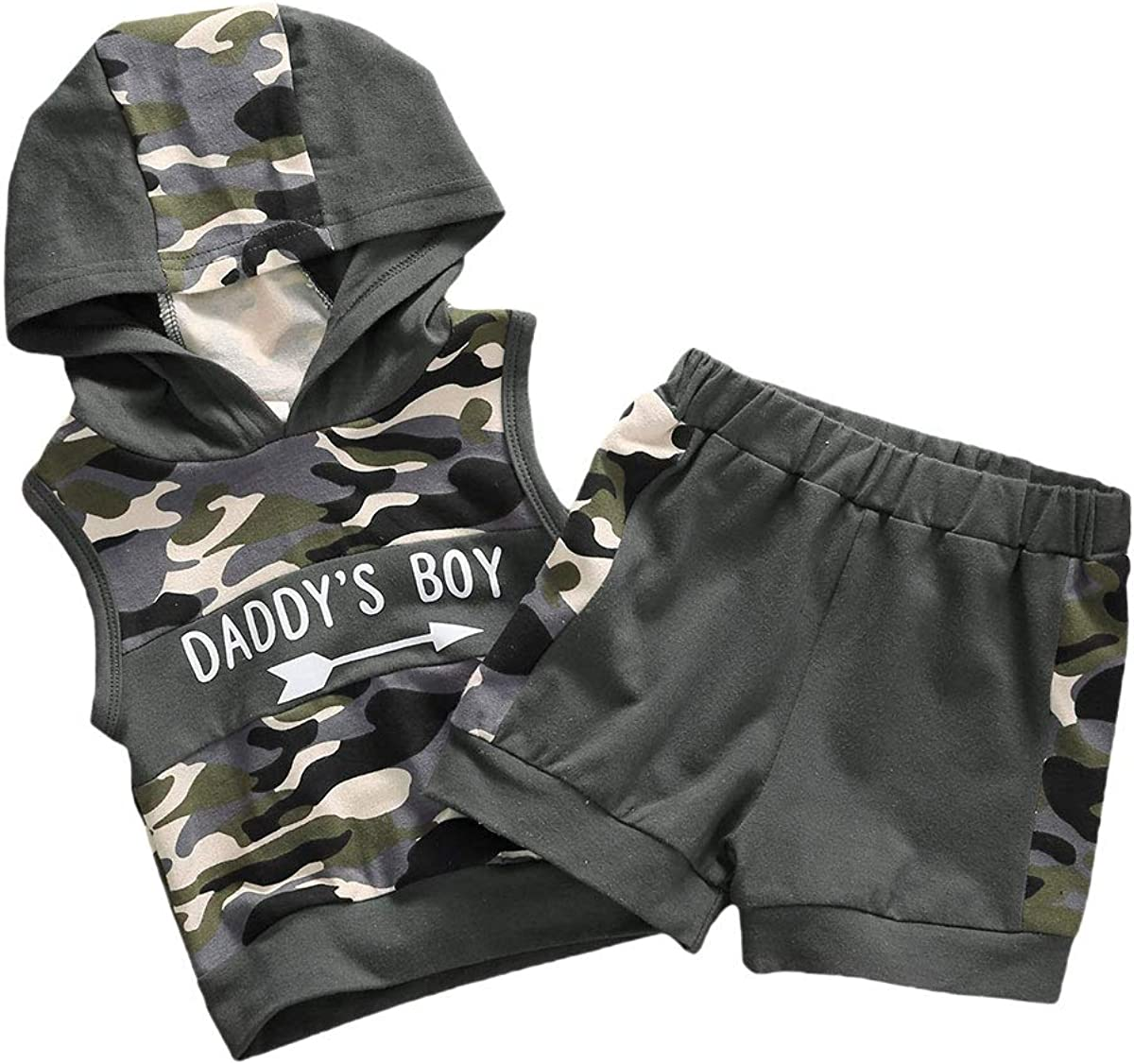 Newborn Toddler Baby Boys Camouflage Clothes Long Sleeve Hoodie Camo Pocket Sweatsuit Top Pants Fall Winter 2Pcs Outfit Set