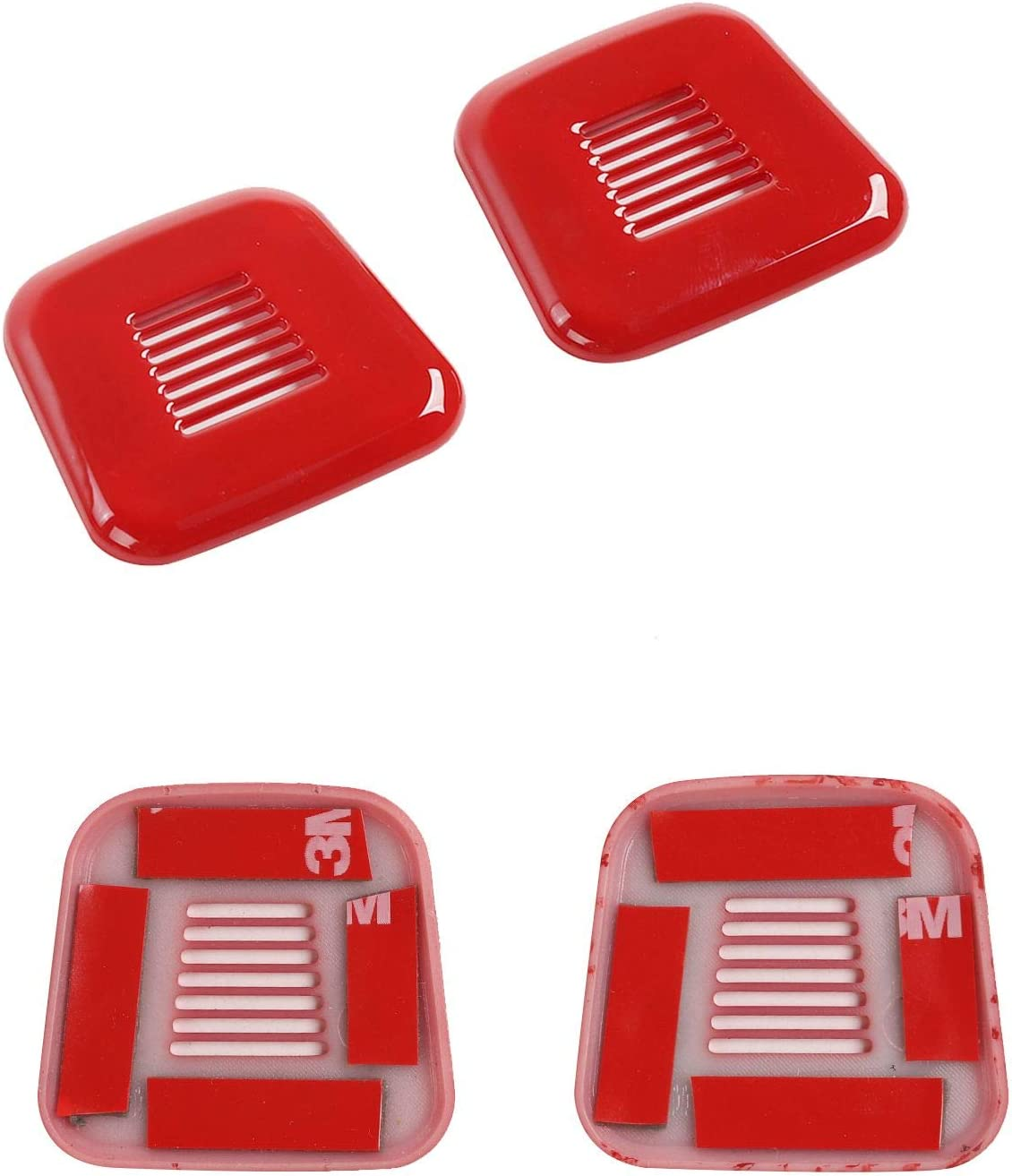 Voodonala for Challenger Microphone Trim for 2015-2020 Dodge Challenger ABS Red 2pcs