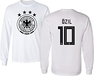 Germany 2018 National Soccer #10 Mesut Ozil World Championship Men's Long Sleeve T-Shirt