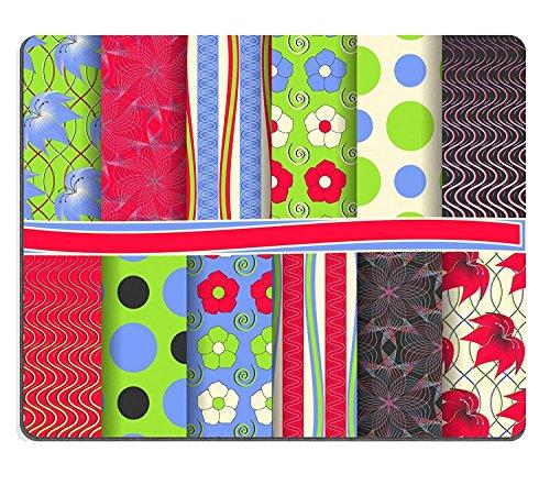 luxlady Caucho Natural Gaming Mousepads Juego de Abstract Floral Vector Papel para scrapbooking imagen ID 27770949