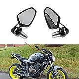 """Universale Specchio Moto manubrio neri, 7/8""""22mm Specchietti retrovisori alari per moto per scooter Cruiser Sport Bike Chopper MSX125 CB500FMT-03 MT-07"""