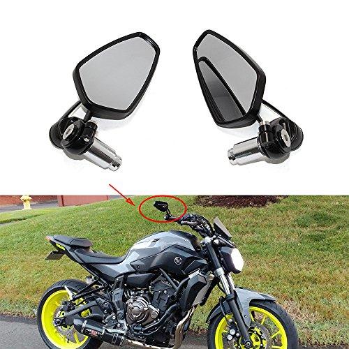 """Moto Espejo Retrovisor negros, espejos retrovisores de 7/8""""22 mm para motocicleta para Scooter Cruiser Sport Bike Chopper"""
