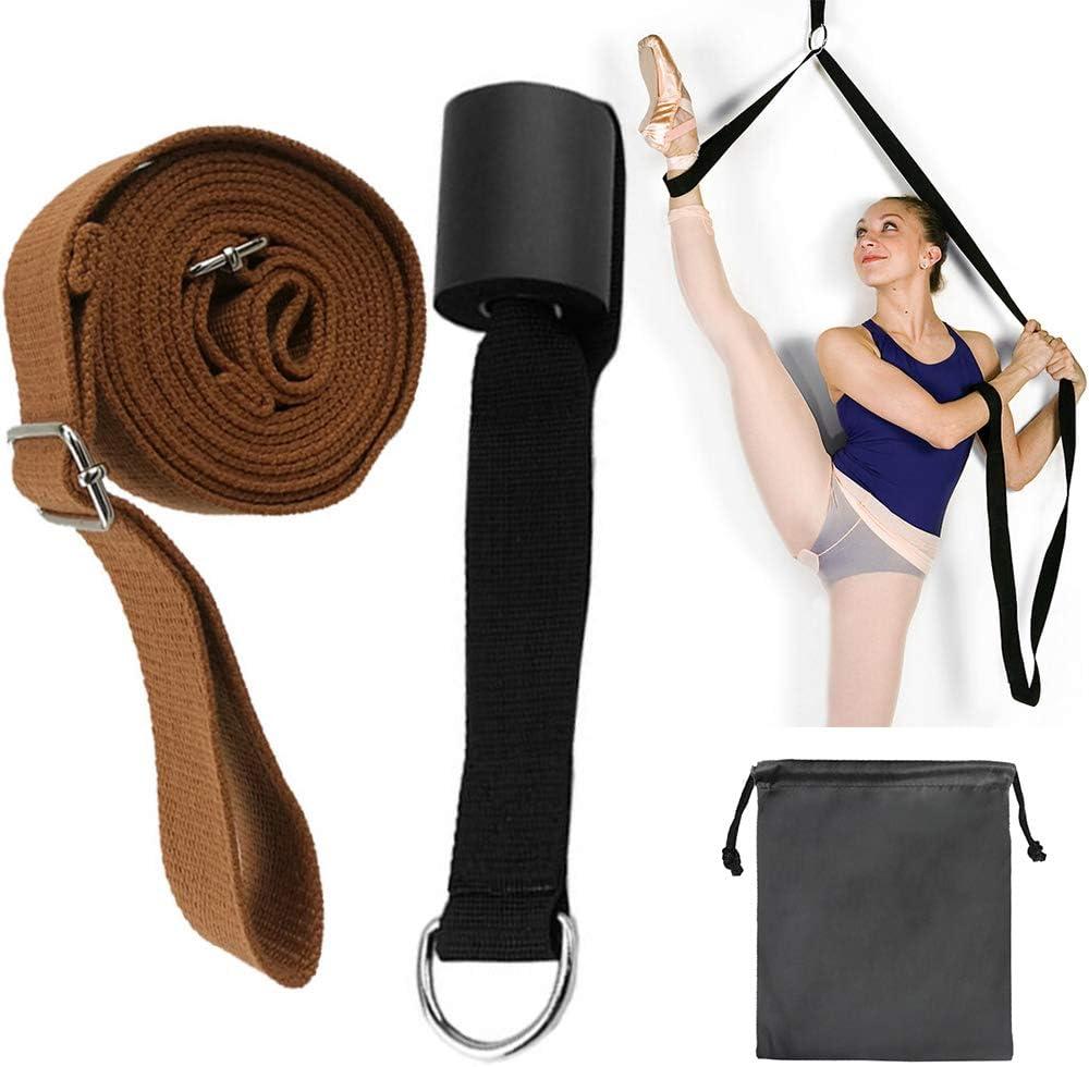 Bag US Leg Stretcher Strap Dance Yoga Gymnastic Belt Door Flexibility Stretch