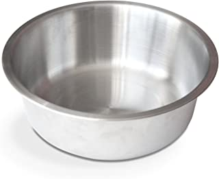PetFusion Dog Bowl in Brushed U.S. Food Grade Stainless Steel. (Large 56 oz)