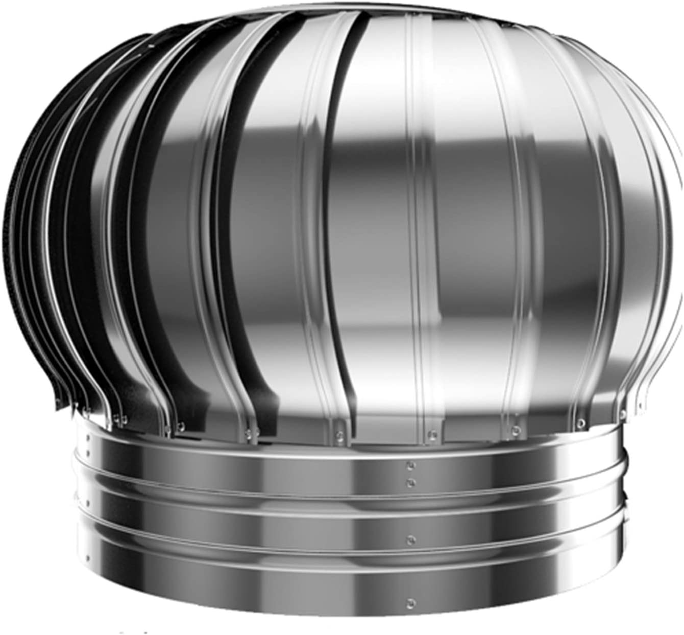 LTLWSH Sombrero Extractor de Humos Giratorio, Extractor de Humo Giratorio de Viento Inoxidable, Base Redonda, Sombrero Eolico de Chimenea,200mm