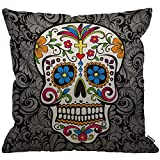 HGOD DESIGNS Cushion Cover Sugar Skull,Throw Pillow Case Home Decorative for Men/Women Living...